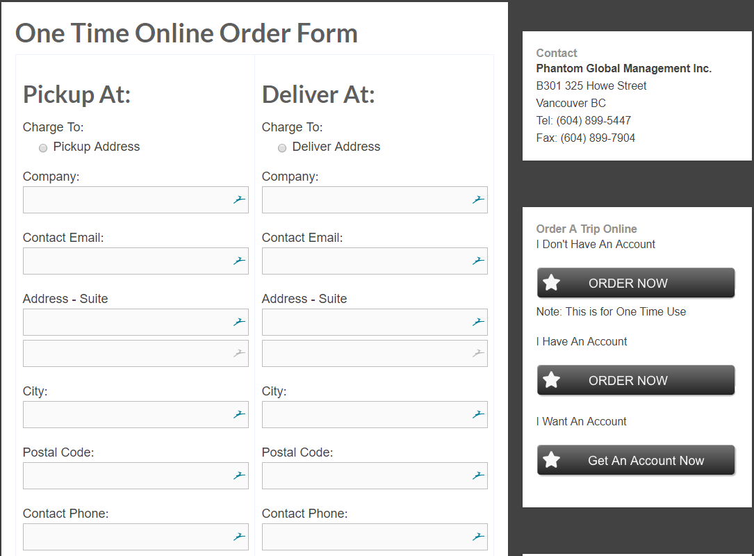 one time ordering system